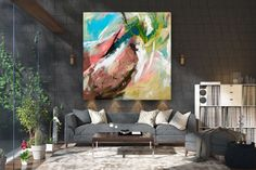 Items similar to Large Painting on Canvas,Original Painting on Canvas,modern wall canvas,abstract originals,huge canvas painting on Etsy Oversized Canvas Art, Large Canvas Art, Abstract Canvas Art, Large Painting, Texture Painting, Wall Canvas, Large Art, Texture Art, Painting Art