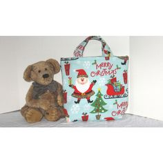 Kid's Korner Merry Christmas Bag 50% of sale is donated to Project... ($10) ❤ liked on Polyvore featuring christmas