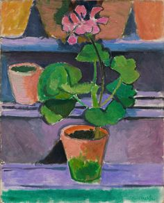 pot of geraniums, 1912 matisse - This painting is hanging in the bathroom of our rental, a faded copy pasted on a board. I wanted to find an image of the real. Henri Matisse, Matisse Kunst, Matisse Art, Henri Rousseau, National Gallery Of Art, Matisse Pinturas, Matisse Paintings, Art Sur Toile, Marcel Duchamp