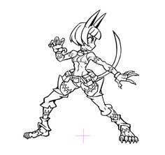Here are the taunts I animated for Skullgirls!... - Kinuko