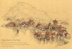 Original Design for a Hilltop Village by Built4ever on DeviantArt