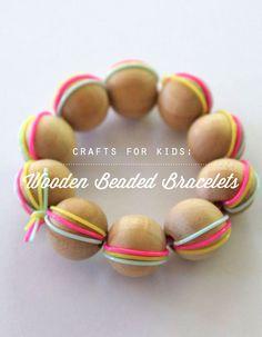 DIY Wooden Bead Bracelets (via Playful Learning)