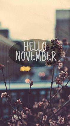 Wallpaper iPhone/hello November ⚪️