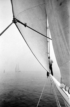Dispatch from my Father: Camden Windjammers, 1964 - man on a sail boat | photography black & white . Schwarz-Weiß-Fotografie . photographie noir et blanc | @ The Daily Prep |
