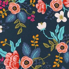 Rifle Paper Co. Birch Floral Rayon- Navy 2019 Rifle Paper Co. Birch Floral Rayon- Navy The post Rifle Paper Co. Birch Floral Rayon- Navy 2019 appeared first on Fabric Diy. Motif Floral, Floral Fabric, Floral Prints, Navy Fabric, Lino Prints, Block Prints, Fabric Patterns, Print Patterns, Floral Patterns