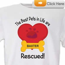 Check our Rescued T-Shirt to celebrate you #pet #animal#dog love. Just $18.99 + an extra $5off Just Enter Coupon Code: SAVEMORE5 at checkout at  http://www.petproductadvisor.com/store/mc/personalized-best-pets-are-rescued-customizable-tshirt.aspx