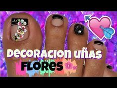 ♥Decoración de Uñas Pies Elegante/♥Chic Feet Nail Decoration - YouTube Toe Nail Art, Toe Nails, Pedicure Designs, Nail Designs, Pedicure Ideas, French Pedicure, Pretty Hands, Simple Designs, Nail Polish