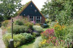 Traditional Dutch home garden