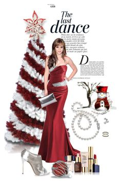 """""""Christmas Dresses or Gowns"""" by kari-c ❤ liked on Polyvore featuring Anja, Estée Lauder, Whistles, Casadei and Mikimoto"""
