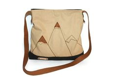 Tote bag Canvas messenger bag  cross body bag lady bag by BYildi