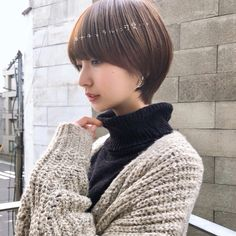 Bob With Fringe, Asian Short Hair, Pin On, Salon Style, Female Poses, Portrait Inspiration, Short Cuts, Hairstyles Haircuts, Asian Woman