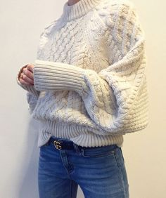 Cosy winter outfit : knitted jumper <3