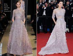 Zhang Ziyi In Elie Saab Couture - La Venus a La Fourrure Cannes Film Festival Premiere