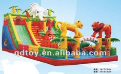 The latest inflatable slides, inflatable castles, Inflatable Bouncer,The elephant slide Cool Water Slides, Inflatable Slide, Bouncy Castle, 3rd Birthday Parties, Outdoor Fun, Bowser, Elephant, Entertaining, Toys