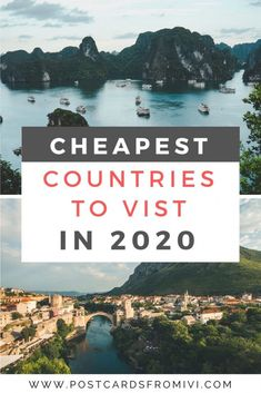 25 cheapest countries to visit around the world in 2020 Wondering which are the most convenient places to travel on a budget? Check out this list of the cheapest countries to visit around th world. Cheap Places To Travel, Ways To Travel, Cheap Travel, Travel Advice, Budget Travel, Cheapest Countries To Travel, Travel Packing, Packing Tips, Travel Hacks