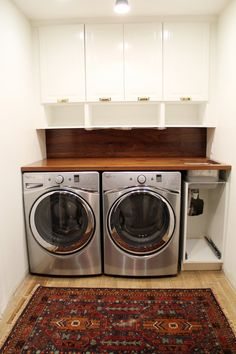 Diy Laundry Room Countertop Over Washer Dryer Pinterest