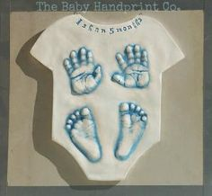 Baby Footprint and Handprint Keepsake Plaque, Baby Gift, Baby Wall Hanging  Baby Personalized Art by TheBabyHandprintCo