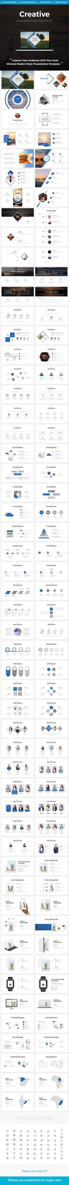 Creative - Multipurpose Keynote Template - Keynote Templates Presentation Templates