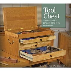 Dovetailed Tool Chest Plans - Workshop Solutions Projects, Tips and Tricks - Woodwork, Woodworking, Woodworking Plans, Woodworking Projects Woodworking Saws, Woodworking Projects Plans, Woodworking Furniture, Woodworking Patterns, Woodworking Supplies, Woodworking Classes, Carpentry, Wooden Tool Boxes, Wood Boxes