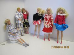 Itsetehdyt Barbien vaatteet. Kaavat Suuri Käsityölehti, 10/1990 ja 10/1991. ( diy barbien vaatteita barbie ken action man nukenvaatteet ) 1990, Barbie Dress, Dress Patterns, Harajuku, Action, Dresses, Style, Kenya, Vestidos