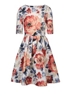 Marta Ferri Floral Dress - Summer style is in full bloom with these chic floral prints: http://shop.harpersbazaar.com/blog/how-bazaar-in-full-bloom