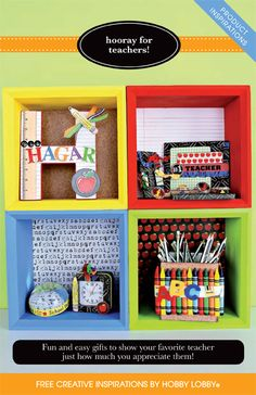 Fun and easy gifts to show your favorite teacher just how much you appreciate them!