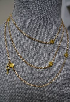 Extra Long 54 inch Gold Link Layering Necklace by Links & Locks, $28.00