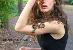 Bracciale in seta con pietre by GIANMARCO RUSSO Accessori