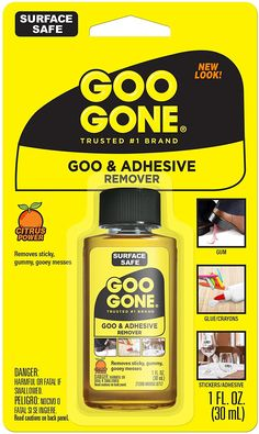 Goo Gone GooGone Not OriginalFluid Ounce BottleHomeampKitchen, Amazon Affiliate link. Click image for detail, #Amazon #goo #googone #originalfluid #ounce #bottlehomeampkitchen #make #fits #entering #model #number #sold #eachliquid #adhesive #remover #citrus #scent #helps #restore #surfaces #original #condition #flozbottle #bottle #pack #easily #remove #adhesivescrayongumg How To Remove Glue, How To Remove Adhesive, Window Stickers, Bumper Stickers, Goo Gone, Diy Spray Paint, Sticker Removal, All Purpose Cleaners