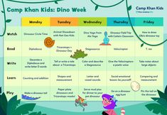 2021: Camp Khan Kids: Dino Week – Khan Academy Kids Library, Vowel Sounds, Little Learners, Circle Time, Camping With Kids, Hands On Activities, Nonfiction Books, Lettering, Homeschool