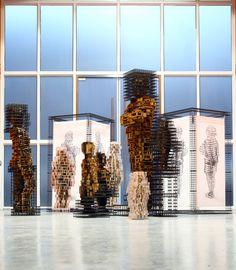 art,sculpture,installation,wood,steel,architecture