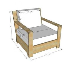 I want to make this!  DIY Furniture Plan from Ana-White.com  Free plans to build outdoor lounge chair inspired by Restoration Hardware Belvedere Chair. DIy Furniture plans build your own furniture #diy