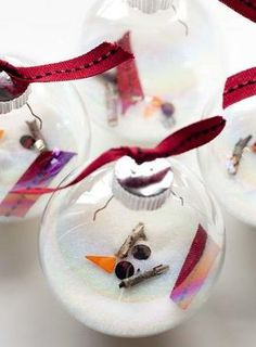 Melted Texas Snowmen Ornaments - Easy & simple Christmas craft for all ages.