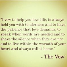 The VowYour VowMy VowOur VowTogether We Vow To Each Other