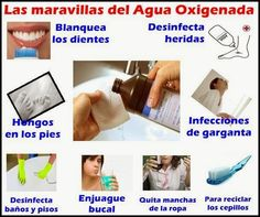 Usos y Beneficios de el Agua Oxigenada -es uno de los más potentes desinfectantes que existen -tiene múltiples usos -es barata -fácil de utilizar y almacenar -carece de efectos secundarios  1- Aplicada en las heridas (varias veces al día) evita infecciones y ayuda en la cicatrización. 2- Una forma sencilla y natural de hacer…