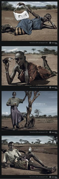 An advertisement that uses impoverished models to prove a very important point.