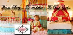 From Baby ~ Toddler ~ To Big Girl Rooms .... this is precious!!