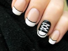 converse nails by nylonmagazine, via Flickr