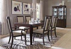 Picture Of Sofia Vergara Santa Clarita Dark Cherry 5 Pc Dining Room From Sets