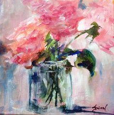"""Daily Paintworks - """"Roses"""" - Original Fine Art for Sale - © Sue Dion"""