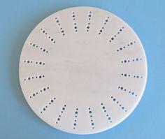 Handcrafted ornated marble serving platter (via Design Milk)