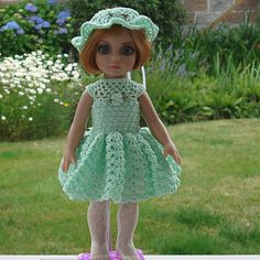 Crochet pattern for 10-inch Patsy doll dress - for sale on Ravelry