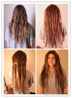 Looks reale nice :) # half rasta Braids # half rasta Braids Half Dreads, Partial Dreads, Musical Hair, Dreadlock Styles, Dreads Styles, Dreadlock Hairstyles, Cool Hairstyles, Wedding Hairstyles, Colorful Hair