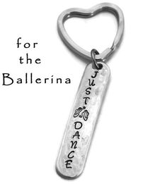 Stamped Aluminum Key Chain Just Dance Hand by TheSilverwearShop