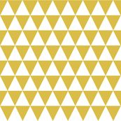 Triangle Rows - Mustard by Andrea Lauren by andrea_lauren, Spoonflower digitally printed fabric