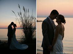 Romantic Sunset Wedding photos by Annapolis Photographer