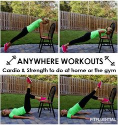 Cardio & Strength Workouts for the Home or Gym via @fitfluential #fitfluential