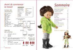 """Découvrez le livre de 64 pages """" J'habille ma poupée... : Spécial haute couture """" - 12 robes de poupées crochetées en un seul point : la mai... Doll Clothes Patterns, Doll Patterns, Clothing Patterns, Crochet Clothes, Crochet Projects, Dolls, Knitting, Shopping, Craft"""