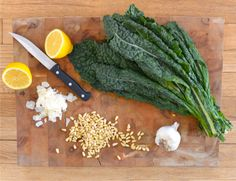 Great recipe for kale pesto, similar to one we used at camp all summer