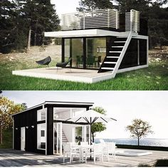 Retirees Are Joining The Tiny House Movement Building A Container Home, Container House Plans, Container House Design, Small House Design, Modern House Design, Modern Tiny House, Tiny House Cabin, Tiny House Living, Tiny House Plans